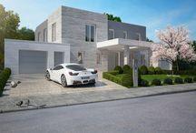 Projekt VILLA RONDORN / Exterieur / FASSADE-/und Hinterhofgestaltung