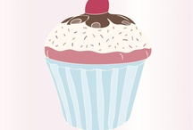 Ilustraciones cupcakes