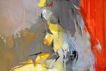 abstracted figures