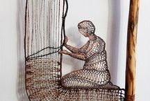 Fibre Craft: Textile Art / Various types of art projects completed with fibres and textiles.