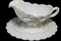 Vintage Milk White Glass