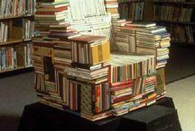 escultura libros