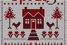Cross stitch estaciones y meses