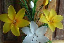 flores meia de seda
