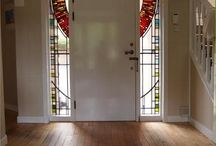 Stained glass and Tiffany doors, windows