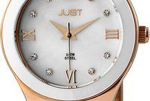 Just Armbanduhren / Moderne Damen und Herren Uhren in verschiedenen Farben und Formen.