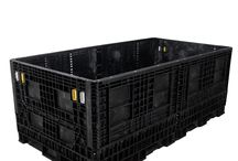 90 x 48 Collapsible Bulk Containers / 90 x 48 bulk containers are RPP Containers exclusive solution for the handling, storage, and transportation of extra-long, hard-to-fit parts. The 90 x 48 bulk containers have open grid floors to provide extra strength while lowering shipping weight, feature two drop doors for easy access, and are built with forklift access. / by RPP Containers