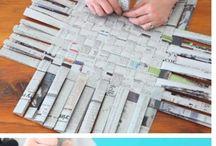 Κατασκευές με εφημεριδα περιοδικα