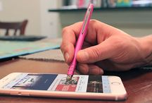 Your Go-To Stylus / This touchscreen stylus features a patented capacitive fiber tip that glides smoothly across your smartphone and tablet and doesn't stick or skip like a rubber tipped stylus. Its durable mesh tip is perfect for writing, drawing, texting, playing games, and simply navigating. The metal pocket clip makes it easy to carry your stylus with you on-the-go.