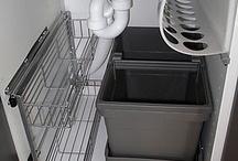 Хранение под раковиной в кухне