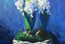Flowers, Plants and Trees / oil paintings of all things nature