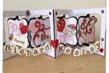 Accordian & Flip cards / card made with accordian dies, flip it dies and other ways of creating these wow 3 dimensional cards