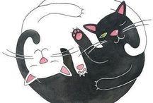 Katten tekeningen