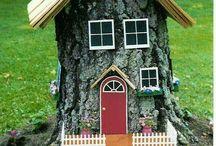 Casas de Madeira e Árvores