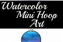 Embroidery Hoop Crafts / by Ben Franklin Crafts New Albany