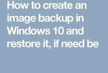 Back UP  SYSTEM IMAGE
