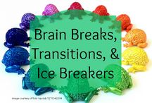 Brain Breaks, Transitions, and Icebreakers / Looking for great ways to inject your classroom with brain friendly strategies for transitions, needed mental breaks, and icebreakers?  Here are some of our favorites.