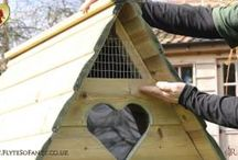 Hobby Hen House / Beautiful and practical starter coop. Also available as a Long-Legged Hobby. Optional run