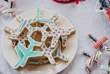 Cookie art airplane