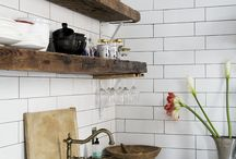 Metro tile and shelves