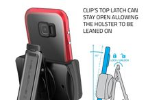 Ghostek® Universal Holster with Belt Clip for Cell Phones & Cases | Fits Most Mobile Phones ! / Ghostek® Universal Holster with Belt Clip for Cell Phones & Cases | Fits iPhone, Galaxy, Droid, Nexus, Otterbox, LifeProof, Case-Mate, Tech21, Griffin, Incipio, Seidio, G-Form, Ballistic, NUUD | Black      84.4mm x 85.79mm x 44.8mm     Fits All Ghostek Cases & All Other Case Brands     30-Degree Clapping Angle     Rubber Grip Protects Your Device From Scratches     Allows 360-Degree Axis Rotation for Vertical or Horizontal Use.