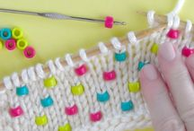 How to knit in beads