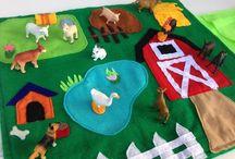 alfombra granja fieltro