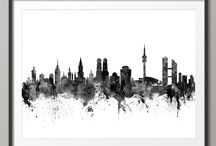 München Skyline Tattoo