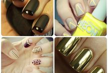 Nails / Now there's NO excuse for bad nails with these simple designs. Our Faves: Bright, glitter and matte nails!