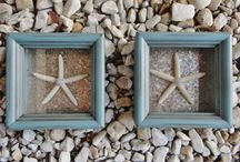 Beach House Decor / Beach Home Decor that is unique and one of a kind such as beach shadow boxes with real starfish.