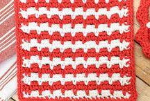 Crochet Pot Holders & Dishcloths