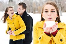 Snow engagement session