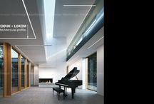 Residential interiors, line of light