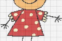 Výšivky + pletení na kruhu / ruční práce
