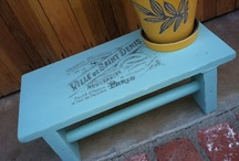 My painted furniture projects / Just getting on the painted furniture before-and-after craze.  Love it!