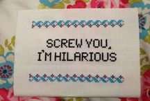 Cross stitch - quotes