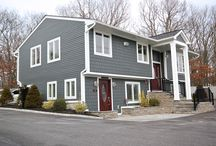 James Hardie Siding Project we completed in Port Jefferson, NY. / This James Hardie Siding Project we completed in the town of Port Jefferson, NY. The color choice was Iron Gray with Arctic White Trim. The client and us here at Premier Building were very pleased with the finished project.