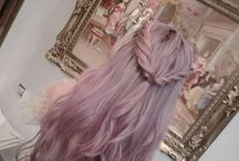 bright and pastel hair