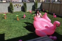 Aria Amara's Flamingo baby shower