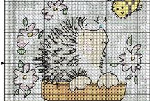 borduur patroon  egels
