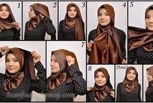 tutorial hijab satin