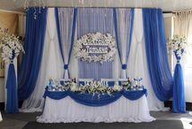 Бело -синие свадьбы