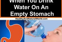 drink water on a empty stomach