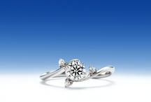 煌-kira- / 夜空に輝く星の如く、ダイヤモンドを輝かせるために生まれた ウィリアム・レニーダイヤモンドのためのパラジウム・エンゲージリング。   The palladium engagement ring for the William-lenny diamond produced in order to brighten a diamond like the star which shines with a night sky.