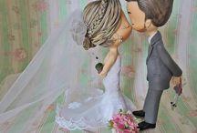 Topo de Bolo de Casamento / Aqui você encontra as melhores e mais lindas referências para seu topo de bolo de casamento perfeito! Topo de Bolo de Biscuit, Topo de Bolo de Feltro, Topo de Bolo tradicional, Topo de Bolo Alternativo! Tudo aqui.