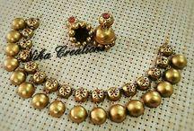 silk thread jewellery designs