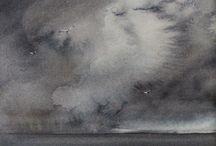 Storm hav måleri