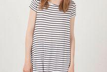 blusa tipo tunica de rayas