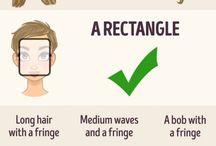 Hair styles based on face shapee