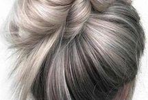 Balayage grey hair